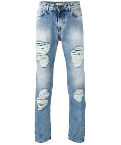 Versace Jeans | Distressed Straight Jeans 32 Cotton/Polyester