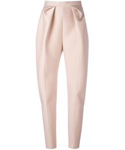 Delpozo | High-Waisted Origami Trousers 38 Viscose/Acetate