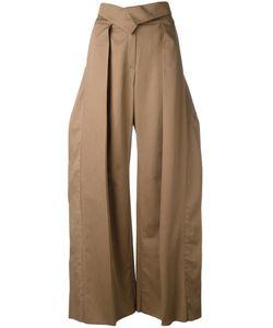 Preen By Thornton Bregazzi | Pleated Detail Palazzo Trousers Xs