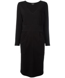 Giorgio Armani | V-Neck Dress 46 Polyamide/Spandex/Elastane/Viscose