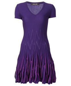 Roberto Cavalli | Вязаное Платье С Оборками