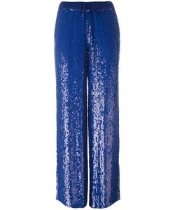 P.A.R.O.S.H. | Sequin Wide-Leg Trousers Medium Viscose/Pvc