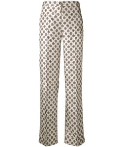Alberto Biani | Geometric Print Trousers 44 Silk/Acetate/Viscose