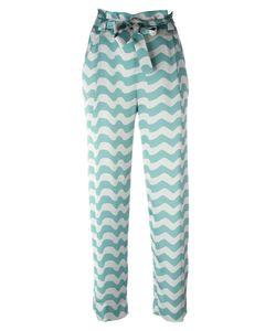 Armani Collezioni | Wavy Print Trousers 44 Polyester