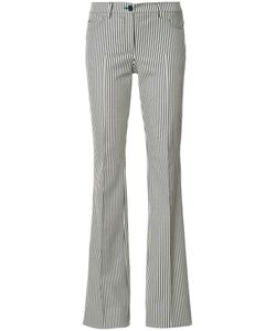 Akris Punto | Striped Fla Trousers 36 Acetate/Spandex/Elastane/Cotton