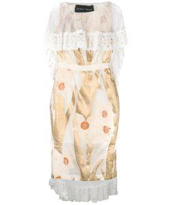 Christian Pellizzari | Lace Cape Cocktail Dress Size 42