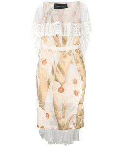 Christian Pellizzari | Коктейльное Платье С Кружевной Накидкой