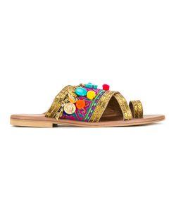 ELINA LINARDAKI | Agrabah Sandals 36 Cotton/Calf Leather