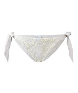 Carine Gilson | Jacquard Flower Bikini Bottom Size Large