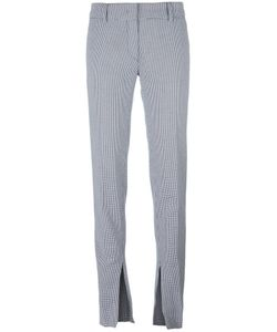 Cedric Charlier | Cédric Charlier Houndstooth Pattern Slim-Fit Trousers 42 Cotton/Rayon