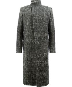 A NEW CROSS | Single Breasted Coat Men Cotton/Linen/Flax/Virgin