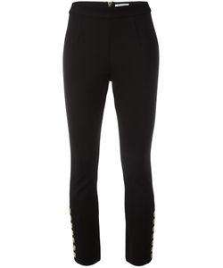 Pierre Balmain | Buttoned Cropped Trousers 36 Nylon/Spandex/Elastane/Viscose