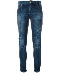 Pierre Balmain | Ribbed Trim Skinny Jeans 25 Cotton/Polyester/Spandex/Elastane