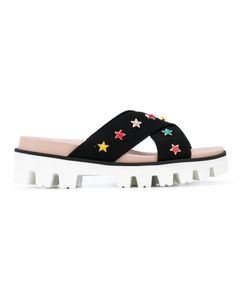 Red Valentino | Star Embroidered Sandals