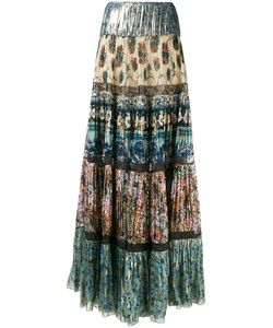 Roberto Cavalli | Patch Pleated Maxi Skirt Size