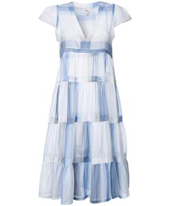 Lemlem | Pleated Trim Fla Dress Large Cotton