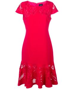 Marchesa Notte | Embroidered Panel Fishtail Dress Size 14