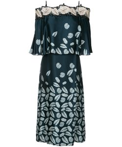 Yigal Azrouel | Leaf Print Off-Shoulder Dress Size 8
