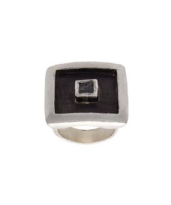 HENSON | Floating Cube Square Ring Unisex Sterling