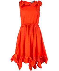 MSGM | Расклешенное Платье С Узлами