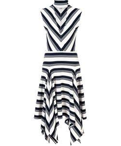 Derek Lam 10 Crosby   Deep V-Neck Asymmetric Dress
