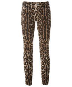 Dolce & Gabbana | Leopard Print Trousers 38 Cotton/Spandex/Elastane