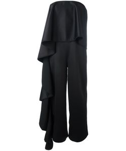 Solace | Ruffled Satin-Backed Crepe Gown Size 12