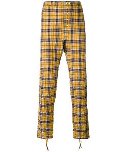 Faith Connexion | Checked Trousers Small Cotton/Spandex/Elastane