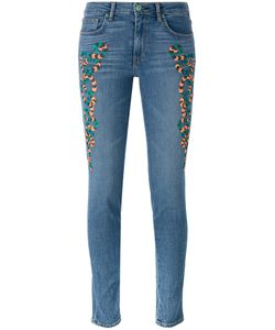 Sandrine Rose | Embroidered Skinny Jeans Size 28