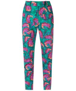 Isolda | Abstract Print Skinny Trousers