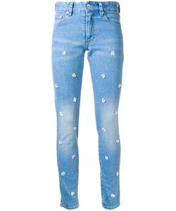 Muveil | Flower Embellished Skinny Jeans