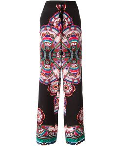 Roberto Cavalli | Abstract Print Drawstring Trousers 44 Silk/Cotton/Viscose