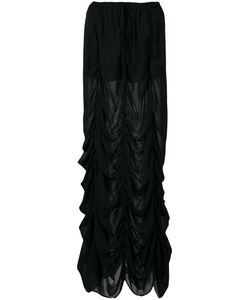 Vera Wang | Long Draped Skirt 4 Silk