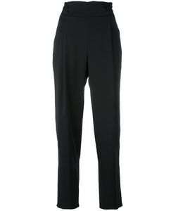 Armani Collezioni | High Waisted Cropped Trousers 42 Silk/Spandex/Elastane/Polyester
