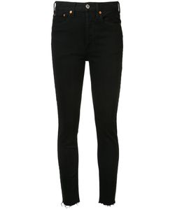 Re/Done | High Waisted Fray Jeans