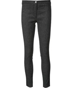 Veronica Beard | Pinstripe Skinny Trousers 4 Cotton/Linen/Flax/Spandex/Elastane