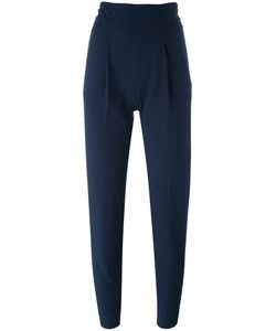 Erika Cavallini | Cropped Track Pants 44 Cotton/Virgin Wool/Acetate