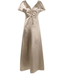 Barbara Casasola | Gathe Chest Gown 40 Silk