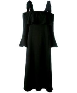 Ganni | Cold Shoulder Fluted Sleeve Dress Size 38