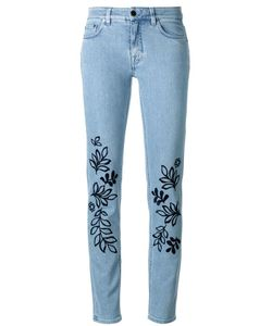 Victoria, Victoria Beckham | Victoria Victoria Beckham Leaves Embroidery Skinny Jeans Size 24