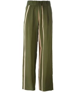 Roberto Collina | Striped Trousers Large Nylon/Acetate