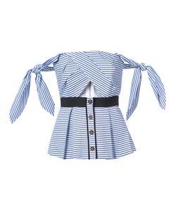 SELF-PORTRAIT | Полосатая Блузка С Открытыми Плечами