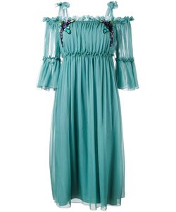 Alberta Ferretti | Cold-Shoulder Midi Dress
