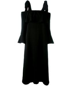 Ganni | Cold Shoulder Fluted Sleeve Dress