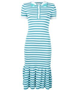 Natasha Zinko | Striped Polo Dress Small Polyester/Viscose