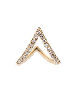 EF COLLECTION | Diamond Chevron Huggie Earrings