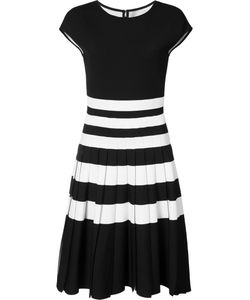 Carolina Herrera | Pleated Stripe Knit Dress