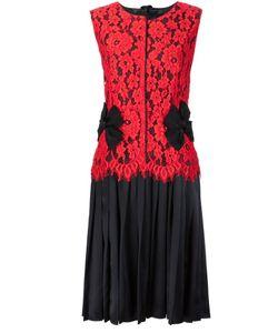 Marc Jacobs | Плиссированное Платье С Кружевным Верхом