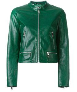 Dolce & Gabbana   Укороченная Кожаная Куртка