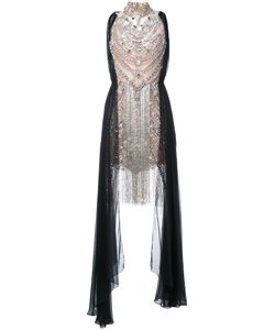 Marchesa | Beaded Gown 8 Silk/Nylon/Spandex/Elastane